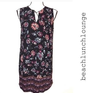 Beach Lunch Lounge Sleeveless Floral Dress Small